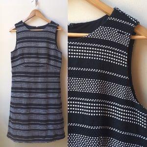 3/$18 Ann Taylor striped tweed sleeveless dress